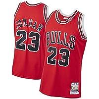 Camiseta de Baloncesto Michael Jordan Chicago Bulls 23# Men, Camiseta de Baloncesto Bordada sin Mangas Retro Unisex, Chaleco Deportivo para Gimnasio, Secado rápido-Red-XL(182~187cm)