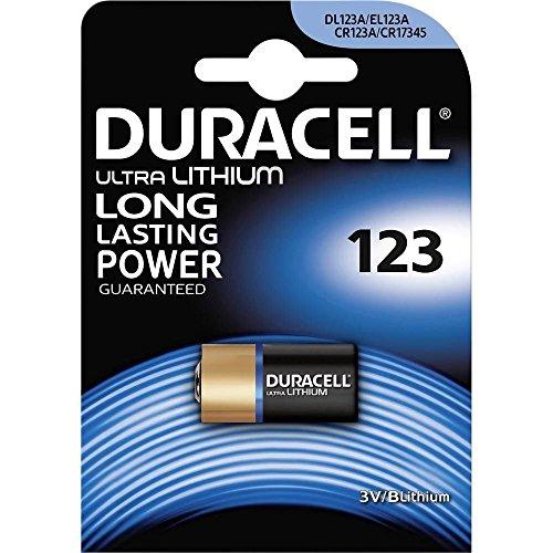 Batterie Litio per Fotocamera Duracell CR123A conf. 10 Bl. Da1 Pz