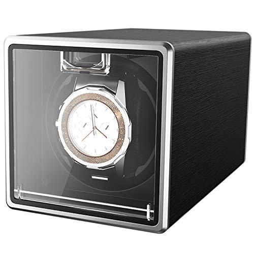 CRITIRON Automatischer Uhrenbeweger für 1 Uhr Uhrenbox Uhrendreher Uhrenwender Watch Winder für Automatikuhren (1 Uhr Schwarz)