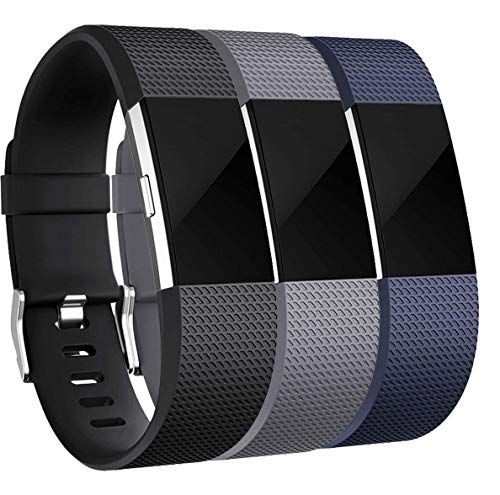 Rapidotzz Pack of 3 Belts/Straps Compatible for Fitbit Charge2 Bands Wristband Straps...