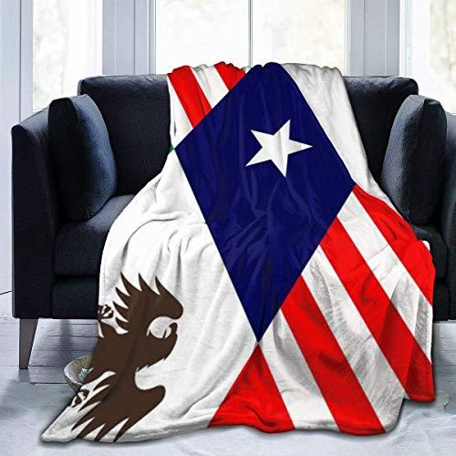 Plüsch Decke eine Flagge für eine North American Union Thermal Fleece Teppich Stuhl...