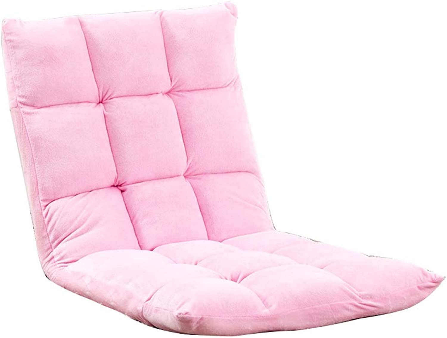 Floor Seating, Foldable Meditation Chair Lazy Couch Chair Bed Computer Chair Bedroom Bay Window Leisure Chair, Multi-color Optional (color   Pink)