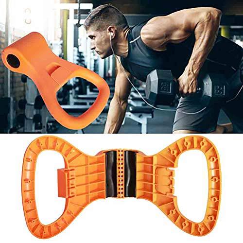 Pandao Kettlebell Grip, Kettlebell Verstellbarer tragbarer Gewichtsgriff Travel Workout Equipment Klemmen an Dumbell zum Gewichtheben Bodybuilding