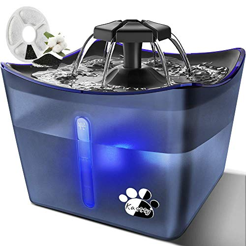 Kastty Cat Fountains, Pet Water Fountain, Whisper Quiet 3L/101oz Dog Kitty Water Fountain, Automatic...