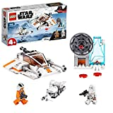 LEGO 75268 Star Wars Snowspeeder and Speeder Bike Playset with Starter Brick for Preschool Kids