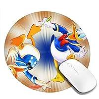 2つドナルドダック マウスパッド 円形 おしゃれ 高級感 ゲーミング オフィス最適 滑り止めゴム底 耐久性が良 付着力が強い 直径20cmx厚い0.3cm