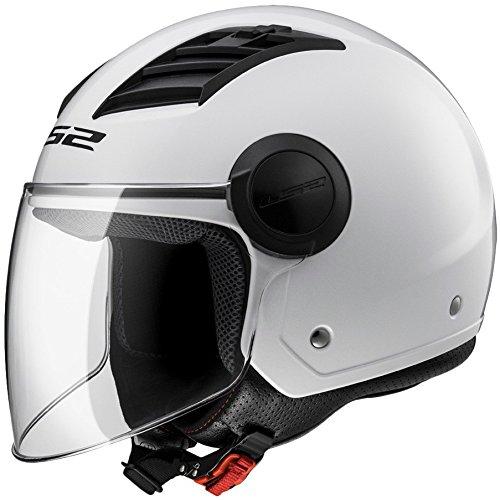 Casque moto ouvert LS2 Airflow L, blanc et brillant, (XXL)