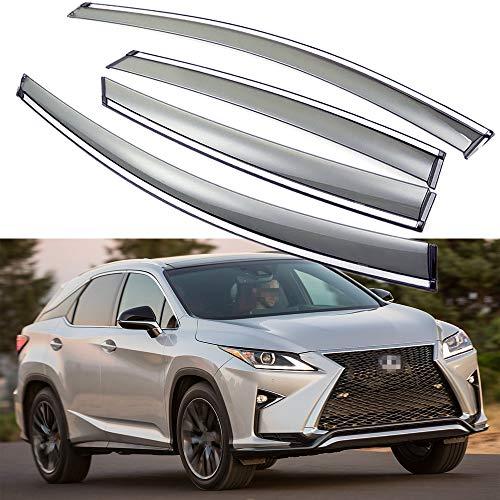 SPEEDLONG Car Window Visor Vent Shade Deflector Sun/Rain Guards Compatible with Lexus RX 350 / RX 450h 2016 2017 2018 2019 2020 2021