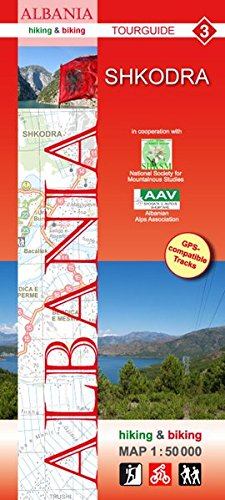 Albania hiking & biking 1:50000: Karte 3: Shkodra