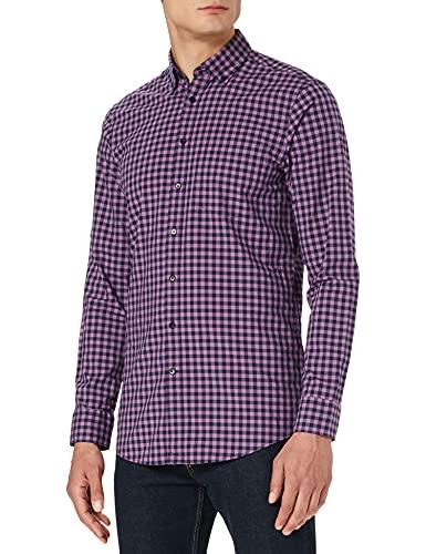 Seidensticker Herren New BD Pocket Patch5 Hemd mit Button-Down-Kragen, flieder, 43