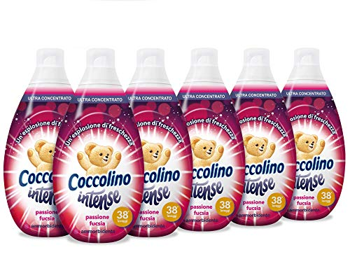 Coccolino Intense Passion Fuchsia - verpakking 6 x 570 ml - in totaal 3420 ml