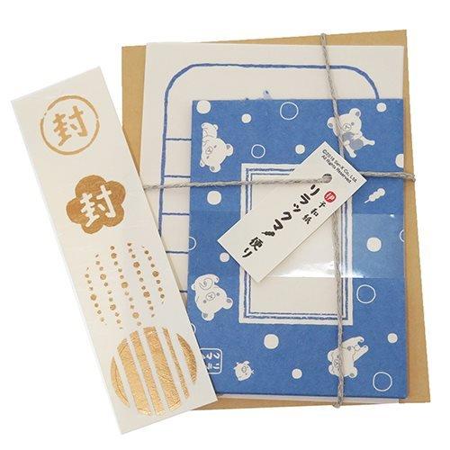 リラックマ[手紙セット]和紙ミニレターセット/水玉 サンエックス