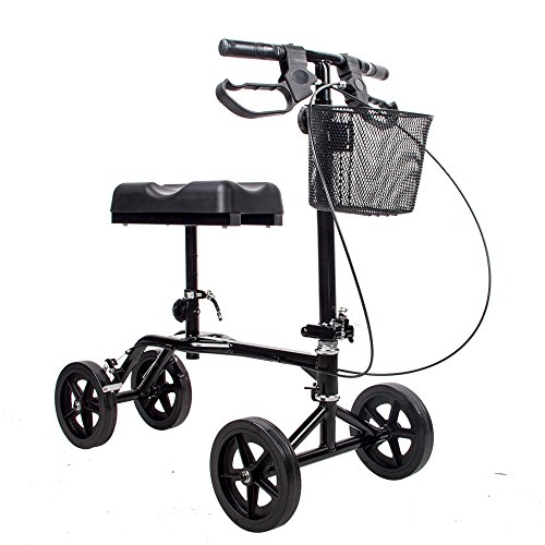 Find Cheap Witlucky Knee Roller Walker Crutch Alternative Steerable Knee Scooter 4 Wheels for Adults...