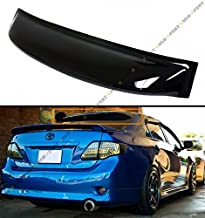 Cuztom Tuning Fits for 2009-2013 Toyota Corolla JDM Smoke Tinted Rear Roof Aero Rain Sun Window Visor