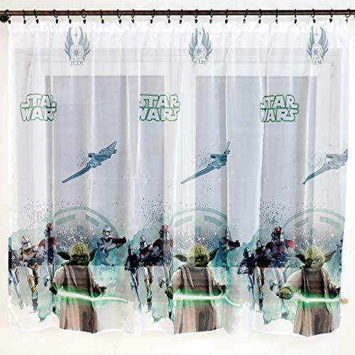 Polontex Disney Gardinen mit universalband Star Wars 150 cm Breite x 154 cm Lange Kinderzimmer Vorhang