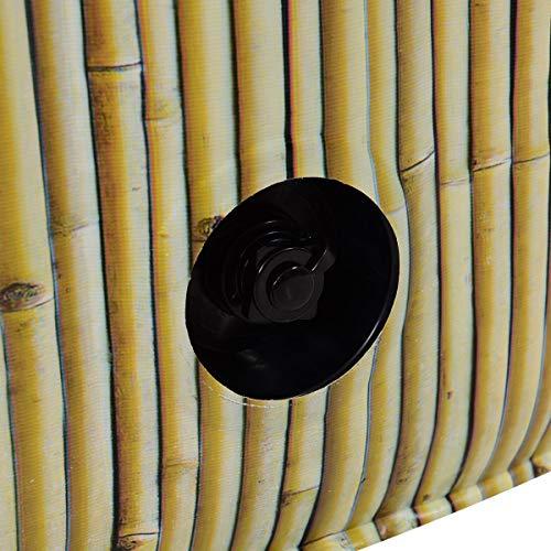 Costway Spa Gonflable Rond 6 Personnes 208x208x65CM 1000 Filtresavec Massage à Bulles,PanneauNumérique,Kit d'AccessoiresPVCGonflage en Quelques Minutes (Beige)