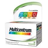 Multicentrum Adulto Complemento Alimenticio con 13 Vitaminas y 11 Minerales, Con Vitamina B1,...