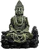 YsKYCA Estatua Escultura Decoración,Regalo Artesanal De Figuras Coleccionables Figuras Feng Shui Antiguo Buda Sentado Resina Simulación Acuario Reptiles Artesanías Hogar Pecera Estatua Feng Shui