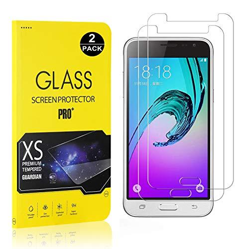 Bear Village® Displayschutzfolie für Galaxy J3 2016, 9H Hart Schutzfilm aus Gehärtetem Glas, Ultra klar Displayschutz Schutzfolie für Samsung Galaxy J3 2016, 2 Stück