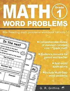 Sponsored Ad - Math Word Problems for Grade 1: 80+ Reading math problems workbook for kids (Math Practice Workbook)