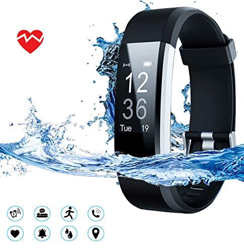 MuscleLocker Fitness Tracker, Monitor de actividad cardíaca, impermeable, pulsera inteligente con contador de pasos… 4