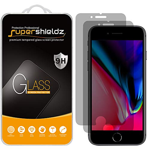(2 Pack) Supershieldz Designed for Apple iPhone SE (2020, 2nd Generation), iPhone 8 and iPhone 7 (Privacy) Anti Spy Tempered Glass Screen Protector, 0.33mm, Anti Scratch, Bubble Free