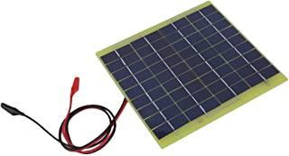 Barryblue 5W 12V Mini Solar Panels Battery Charger Polysilicon Sun Power Battery Charger Outdoor