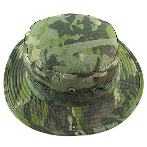 Fischerhüte Angeln Hüte Tactical Airsoft Sniper Camouflage Boonie Hüte Nepalese Cap Militares Army Mens Military Wandern Hüte Summer Bucket Fishing Hat @ Green
