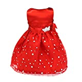 Red ärmel Kleid Für 18 '' American Girl Dolls -