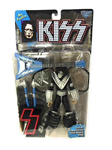 1997 - McFarlane - KISS - Ace Frehley : Space Ace - Ultra Action Figure - 7 Inches - With Guitar Transforms to Space Sled & Lett