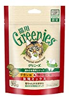 (まとめ買い)グリニーズ 猫用 チキン味&サーモン味 旨味ミックス 70g 【×10】