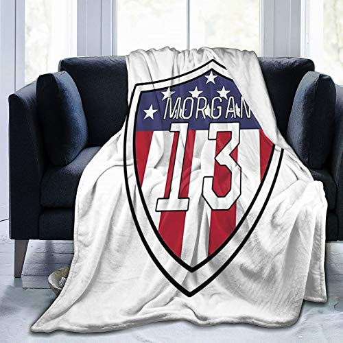 """Needlove Alex Morgan Throw Blanket Suitable Ultra Soft Weighted Bedding Fleece Blanket for Sofa Bed Office 80""""x60"""" Travel Multi-Size for Adult"""