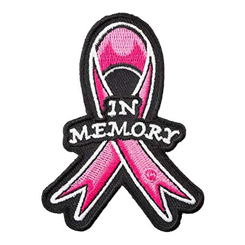 PatchStop Breast Cancer Pink Ribbon Iron On Patches for Clothing Jeans - 2.25x3in Small DIY Sew On Patch for Jackets Hats - Embroidered Cancer Awareness Decorative Patches