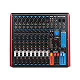 XTUGA FTM8 8-Channel Professional Audio Mixer Sound Built-in 99-bit DSP Digital effect with Recordable function and Digital display MP3,Bluetooth,USB,EQ,Effects (8-Channel)