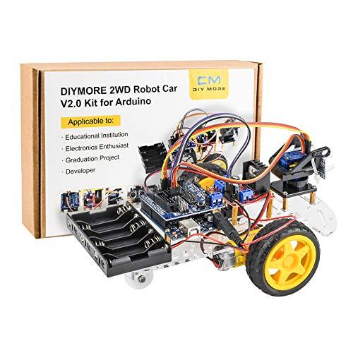 diymore Smart Robot Car Kit Kompatibel mit Arduin0 Board, Ultraschallsensor, Toy Car Robot Kit für Kinder