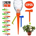 ?2020 New? Plant Self Watering Spikes Devices, Slow Release Control Valve Switch Automatic Irrigation Watering Drip System, for Preventing Stop Water Cutoff with Anti-Tilt Bracket-12Pack from Ankda