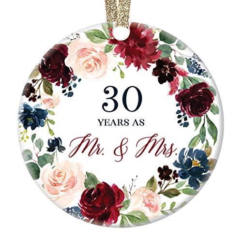 DIGIBUDDHA Christmas Ornament Present 30th Wedding Anniversary Husband...
