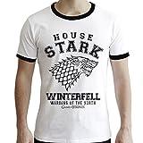 ABYstyle – Juego de Tronos – Camiseta – House Stark – Hombres – Blanco (M)