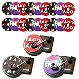 Tanlee 3 Pieces Car Retro Record Player Perfume Clip Perfume Vent Outlet Diffuser Car Fragrance Diffuser with 18 Pieces Car Aromatherapy Tablets Aromatherapy Replacement Pads for Car Home Office