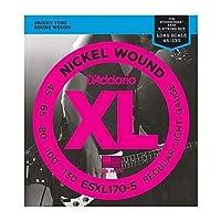 DADDARIO (ダダリオ) 5弦ベース弦 ESXL170-5 ダブルボールエンド Nickel Wound 5-Strings 45-130
