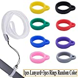 Anti-Loss Lanyard Necklace Compatible for J-uul or Similar Sized Pods System Pens Pendant Holder, Silicon Rubber Carrying Case for Daily Life, Office, Outdoor-Device Not Included(White)