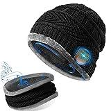 GeekerChip Cappello Bluetooth con Sciarpa,Cappello Uomo Donna Invernali in Maglia,Bluetooth 5.0 Musica Cappello,per Smartphone/PC/Tablet,per Sport all'Aria Aperta Sci Campeggio Escursionismo