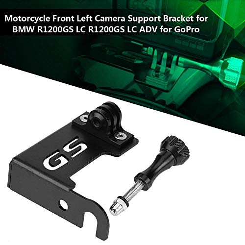KSTE Kamera Halterung, L Bracket Motorrad vorne Links-Kamera-Halterung, for B-M-W R1200GS LC R1200GS LC, ADV for GoPro (schwarz und Splitter).