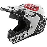 Troy Lee Designs SE4 Composite Skully Adult Off-Road Motorcyle Helmet - White/Black/Medium