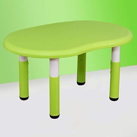 子供研究机椅子セット 子供の勉強机椅子テーブルセット傾斜テーブルと子供のためのアートウッドテーブルセットワークステーション高さ調節可能 (色 : 緑)