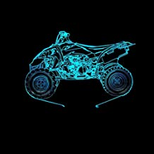 RJGOPL 3D Visual Home Decor Motorcycle Modelling Table Lamp Gifts for Kids Touch Button Baby Sleep Usb Lighting Switch LED...