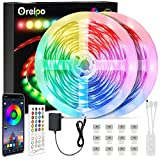 Orelpo Smart LED Strip 20M, SMD 5050 WiFi RGB Farbwechsel LED Streifen mit Musik Sync, Timer Funktion, App Gesteuerte LED Strip für Haus Party Bar Beleuchtung