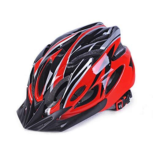 Alician - Casco de ciclismo para hombre y mujer, rojo y negro, talla única