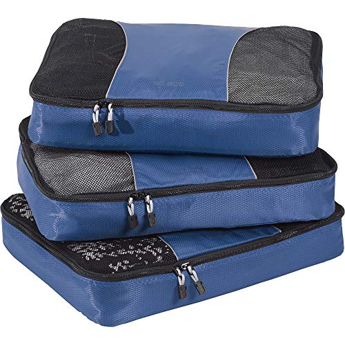 eBags Classic Large 3pc Packing Cubes (Denim)