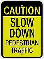 装飾ポスターサインは、歩行者交通のコマーシャルサインをスローダウンし、レトロアート鉄の塗装金属警告プラークホームヤードストアバーコーヒーハウスのための装飾